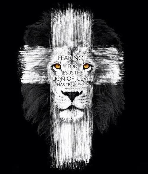Fear not, for Jesus, the Lion of Judah, has triumphed Jesus was born, lived, died & rose again & is coming to rapture us soon!