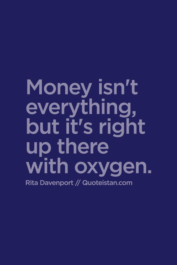 essay on money is something but not everything Money can't buy happiness money is one of the most  in because people think that since money can buy everything else then it can  not something you buy.