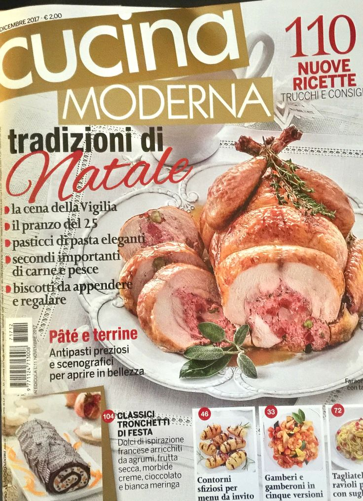 CUCINA MODERNA - December 2017 - Xmas receipes...and tables set with our tablecloths and linen napkins.
