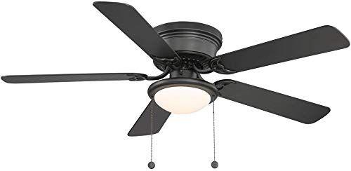 New Hugger 52 Inch Led Indoor Black Ceiling Fan Al383ledbk Online Shopping Black Ceiling Fan Ceiling Fan Hugger Ceiling Fan