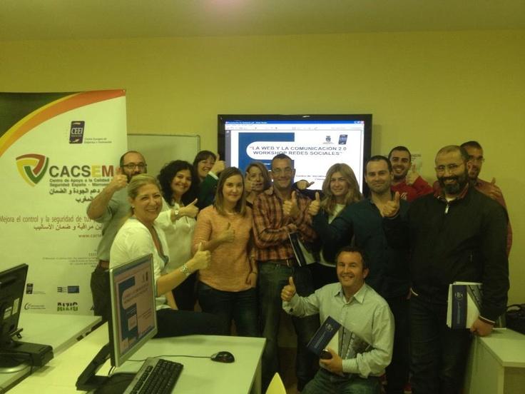 """Seminario """"La Web y la Comunicación 2.0. Workshop de redes sociales"""" con el CEEI Bahía de Cádiz y el área de fomento del Aytuntamiento de Chiclana. (Abril 2013)"""