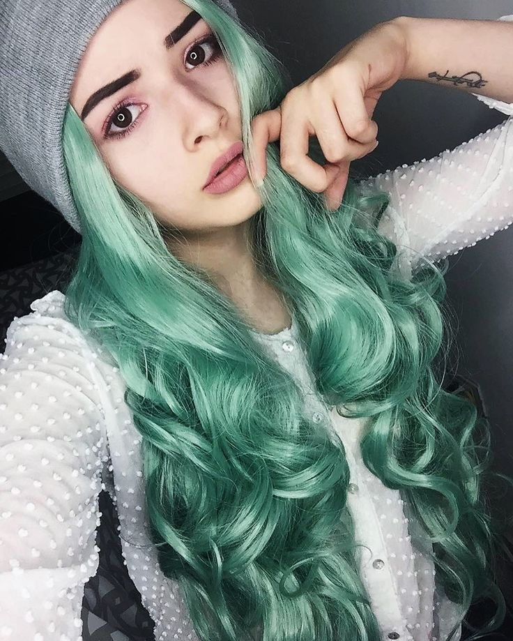 25 best ideas about green hair colors on pinterest