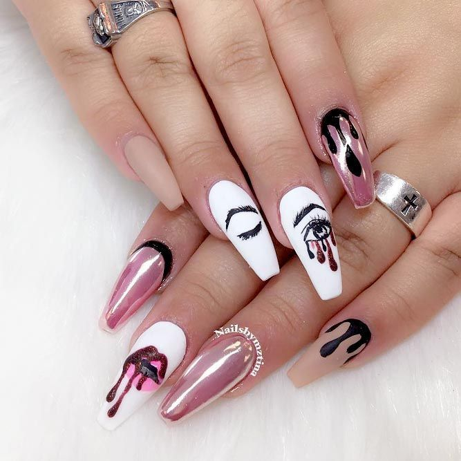 The Best Long Nails Shapes To Consider Today Naildesignsjournal Trendy Nails Gorgeous Nails Nail Designs
