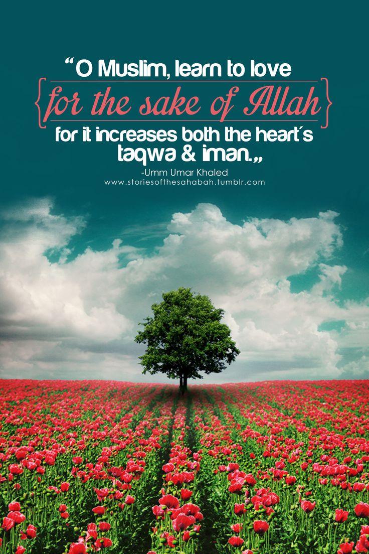 for the sake of Allah