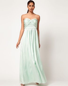 Image 1 of Jarlo Gathered Bustier Maxi Dress