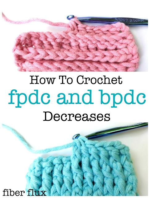 Post stitches are fun stitches that add lots of texture to your project. When you need to decrease, here are photo and video tutorials for both the front post double crochet (fpdc) decrease and the back post double crochet (bpdc) decrease. #crochet #video #tutorial