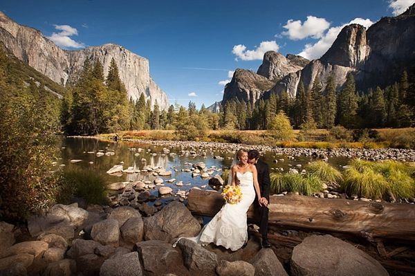 Yosemite Wedding At The Ahwahnee With Preppy Yellow Navy Details