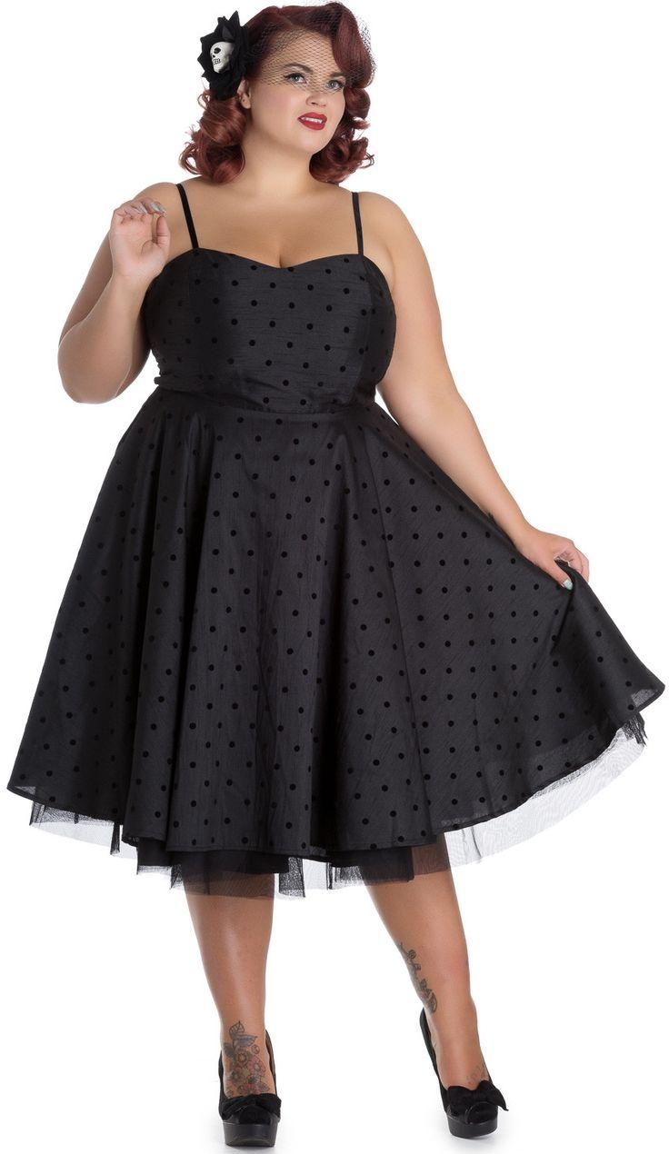 Vestido Isabella de Hell Bunny en Talla Grande  #vestidos #moda #gotico #pinup #alternativo