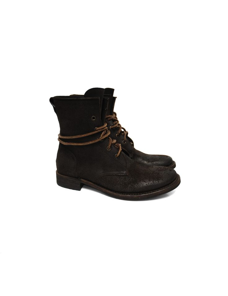 Tre Chiodi brown leather boots with laces, Goodyear outsole.  Materials: leather.  BU2767 0532
