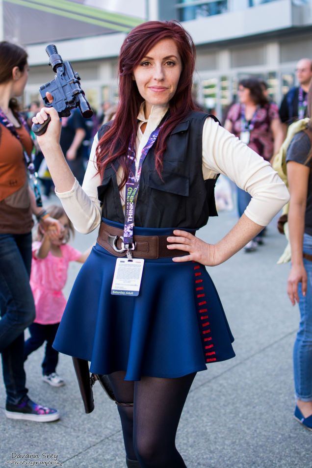 Hey students, here I am at Star Wars celebration as Han Solo. You don't have to dress your gender! Be creative! :D  Putting together more of my cosplay on Instagram @TheKimmyShow