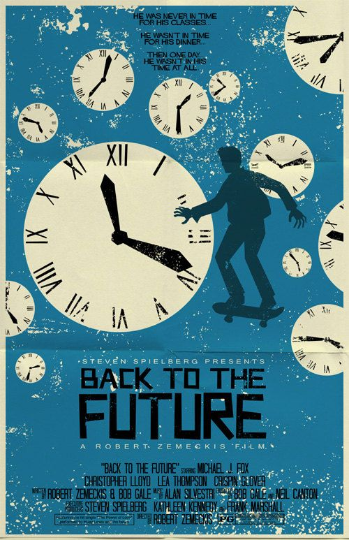 Back To The Future vintage style movie poster by TeamWelser