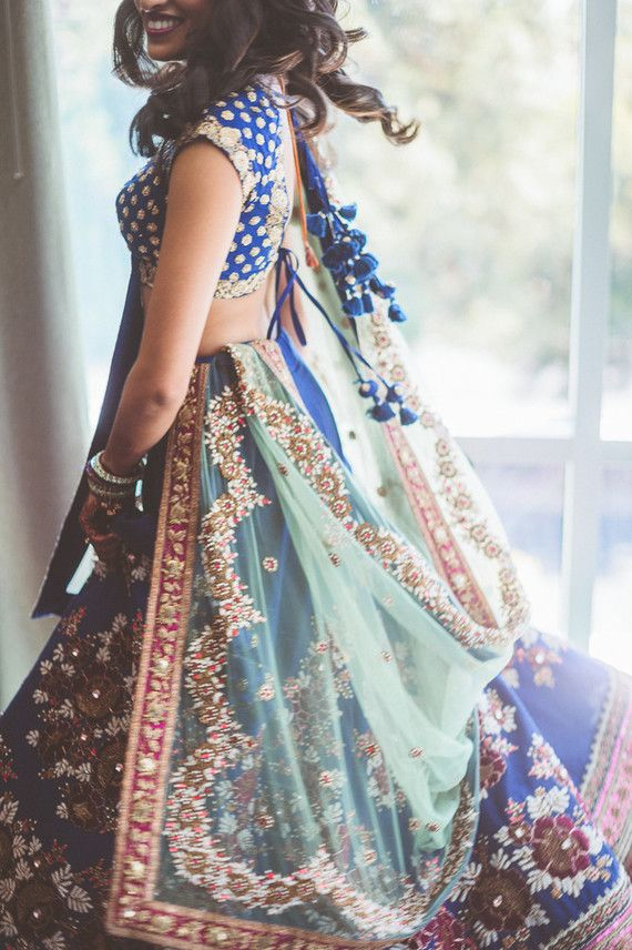 Modern Indian wedding sari