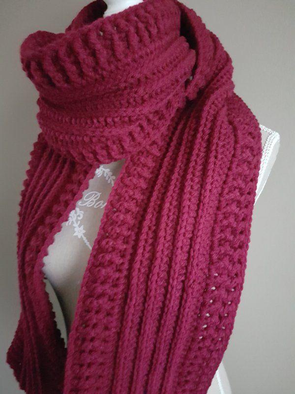 Gratis Haakpatroon Sjaal Met Reliëf Haken Crochet Shawl