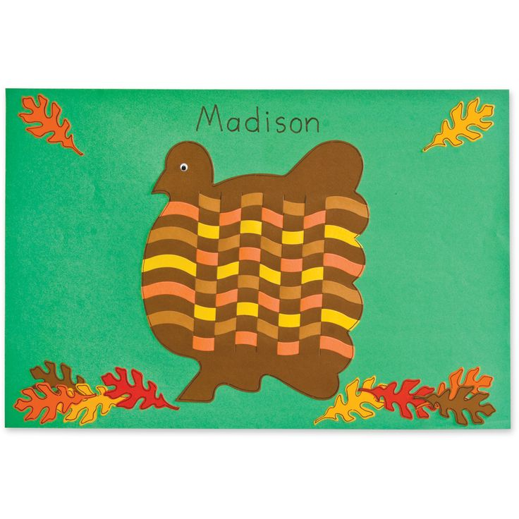 make these colorful turkey placemats that the children may take home