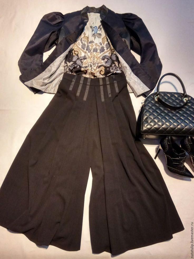 Купить Блейзер из атласной кожи - тёмно-синий, однотонный, черный, красивый, блейзер, пиджак женский
