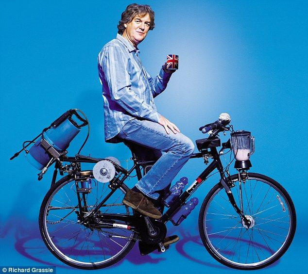 James May's man Lab Swiss Army bike. On the August riots: 'I would always try to work out what's gone wrong, rather than just saying they should all be put in prison, hanged or beaten or whatever'