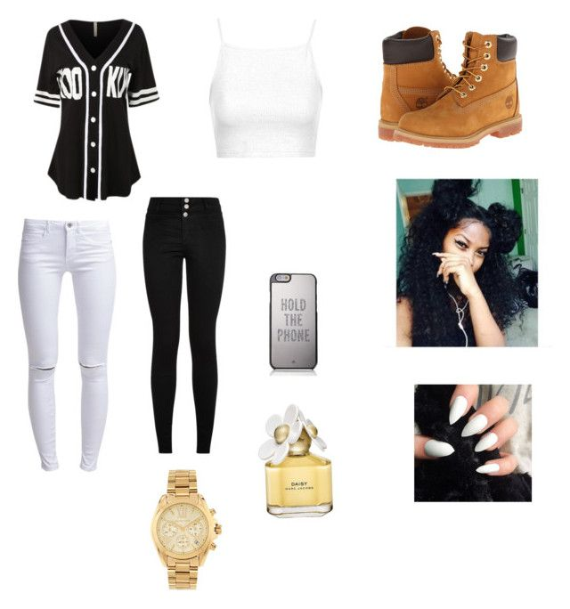 """""""Brooklyn BaseBall Jersey """" by iammcarter ❤ liked on Polyvore featuring LE3NO, Topshop, ONLY, Timberland, Kate Spade, Marc Jacobs and Michael Kors"""