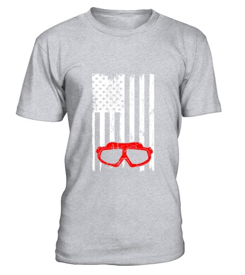 Swimming Scuba Diving Usa Flag Pride T-shirt