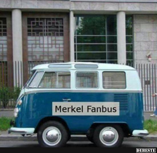 Merkel Fanbus | Lustige Bilder, Sprüche, Witze, echt lustig