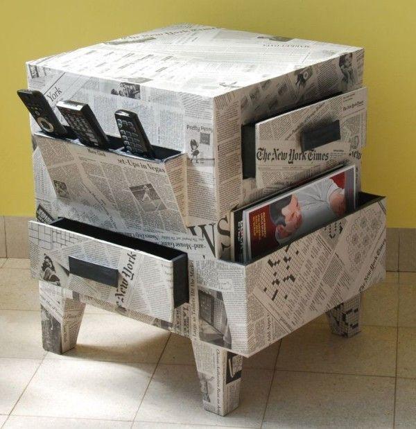 papelmanualidades-con-papel-de-periodico-muebles