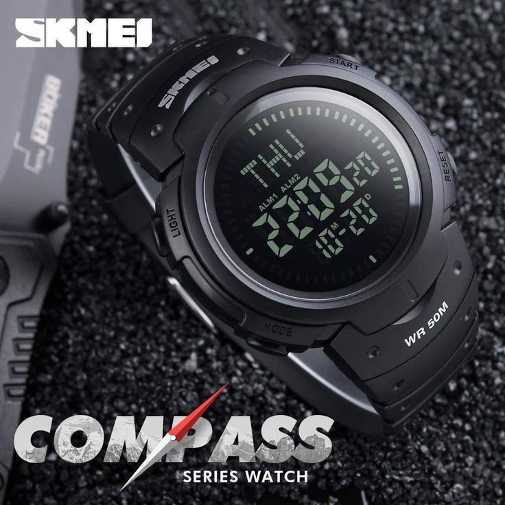Wallmart.win Watches Hiking Men Watch Digital 2017 Skmei Outdoor Sports Compass Led Electronic Watch Man Sports W
