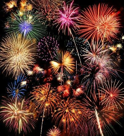 ..A kiss underneath the fireworks