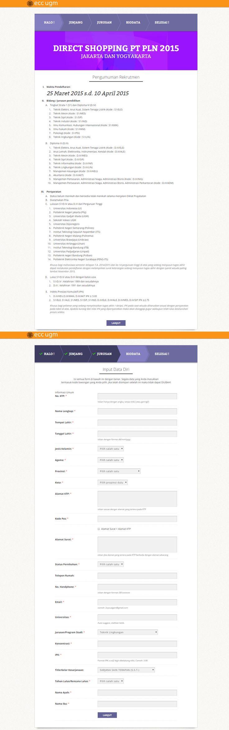 Direct Shopping PT PLN 2015 #Yii #ECC2 #FormOnline #Recruitment #PLN #ECCUGM