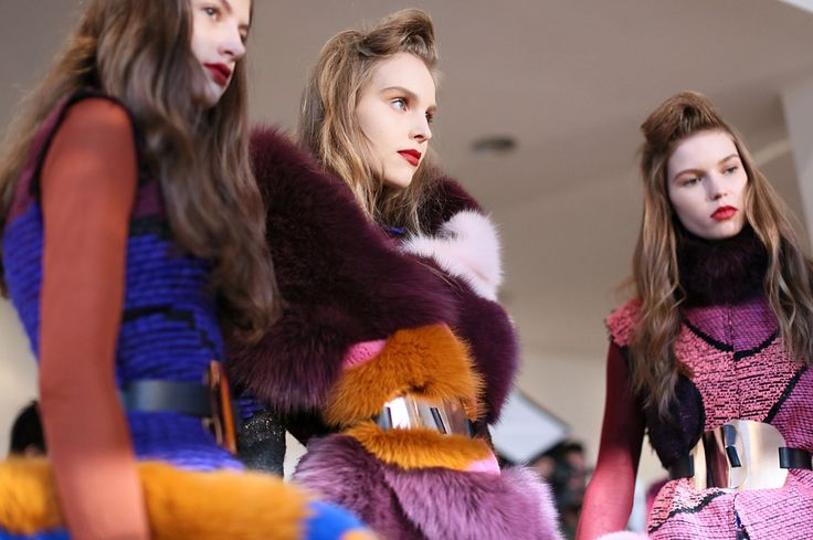 Backstage at Roksanda Ilincic A/W 2015
