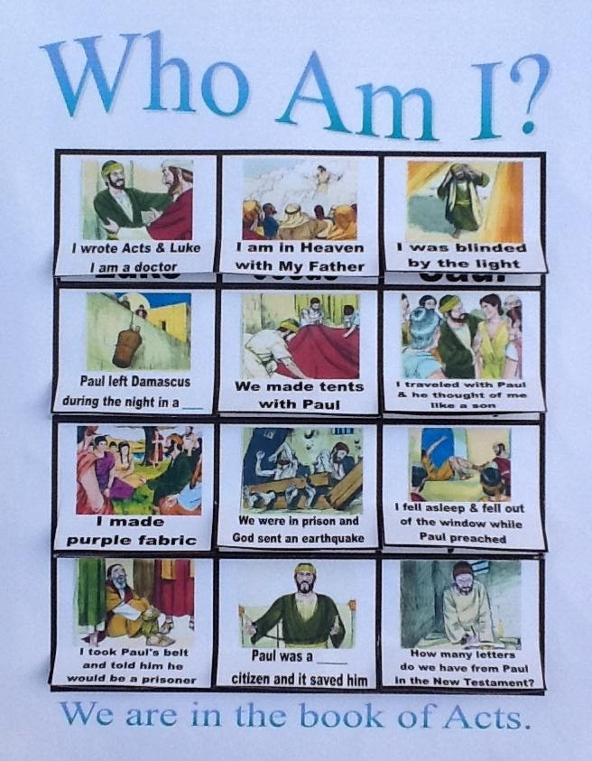 Paul Goes Before Felix: Who Am I  Lift-the-Flap worksheet Acts Review