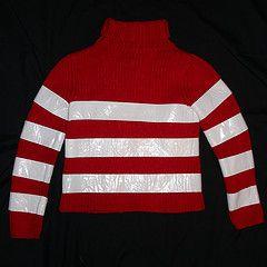 waldo shirt-red shirt and white duct tape