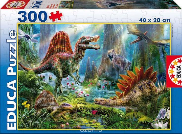 Пазл 300 деталей Динозавры16366Пазл Динозавры отправят юного исследователя в парк Юрского периода! Помимо того, элементы конструкции спаренные, подошва - 100% каучук.