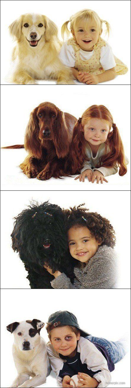 I'm a sucker for cute kids and cute dogs. Put 'em together, and they're an unbeatable combo. =o)