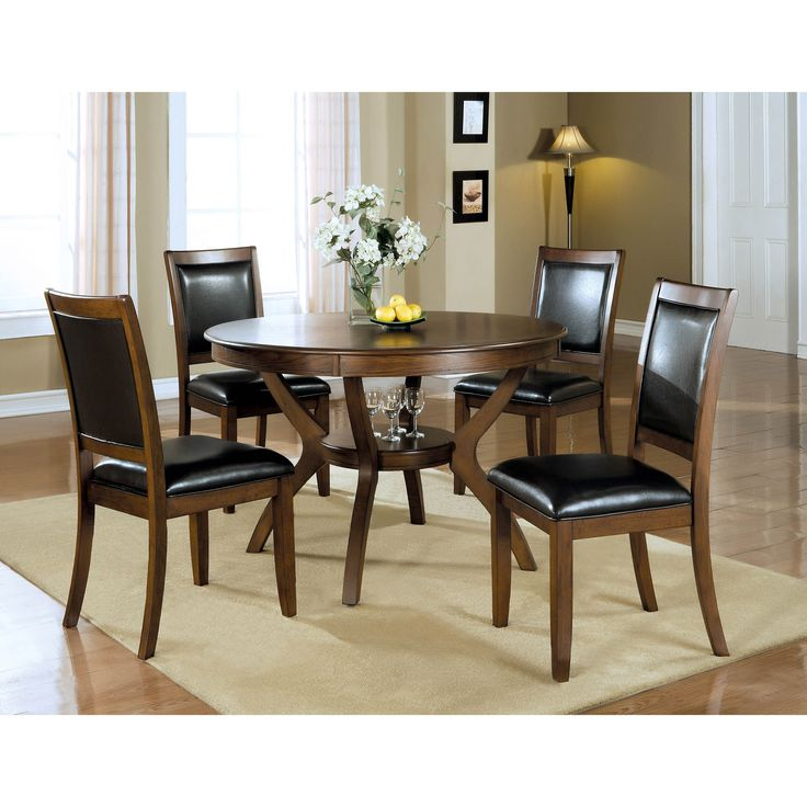 Coaster Furniture Nelms Round Brown Walnut Casual Dining Table This Group Is Made