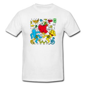 If you like Keith Haring, check out our version, on sale at http://edenexit.spreadshirt.it/keith-s-A26265866/customize/color/1