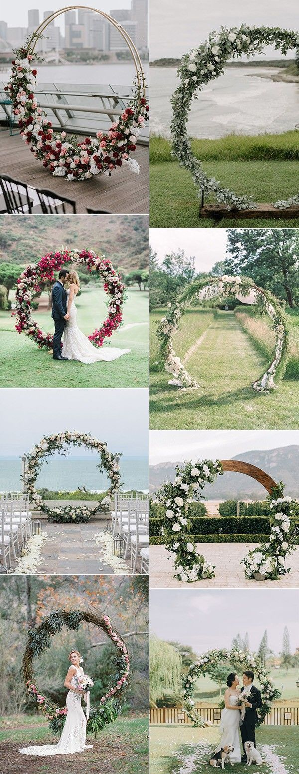 2019 Tending circular wedding arch ideas # wedding arch ideas # circular #invoking #weddingengagementideas