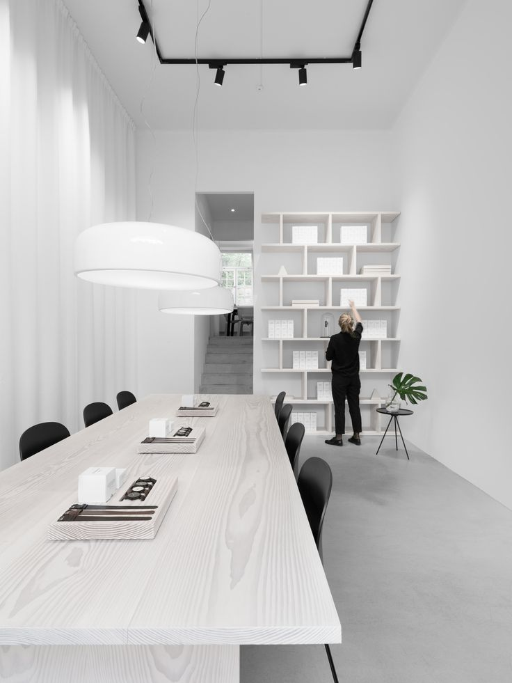 Matt, a light conference table like this one would complement the floors nicely.