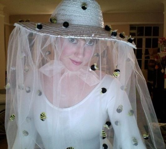 A beekeeper makes a great costume if you live somewhere cold. Just wear a white jumpsuit, boots, a hat with a veil or screen, and attach some fake bees to yourself.