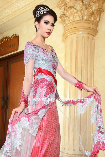 Princes cute kebaya modern dress 2016 - pink