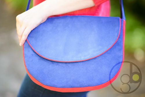 MIDI series - shoulder bag made of alcantara.