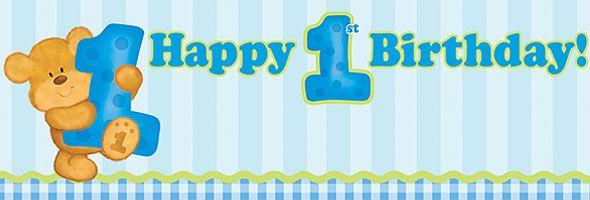 Teddy Bear 1st Birthday Boy Party Baby And Kid Stuff