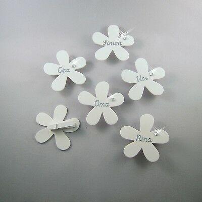 Finden Sie Top-Angebote für Tischkarten Platzkarten Blume Klammer Namenskarten … – Dekoration Taufe, Kommunion, Hochzeit