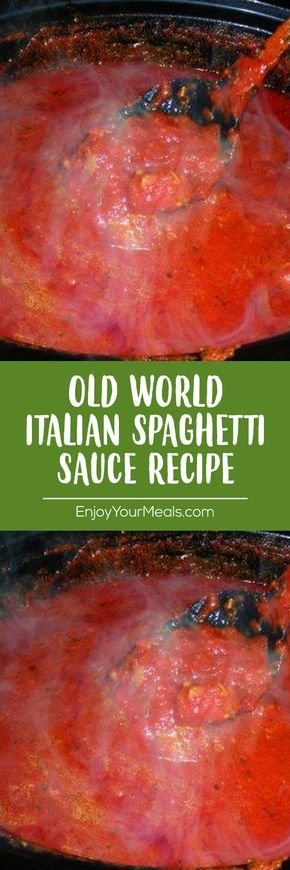 Old World Italian Spaghetti Sauce Recipe #recipes #flavorsrecipes #sauce #pasta