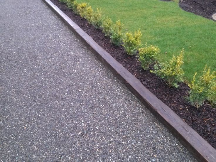 Crushed Gravel Driveway with Wooden Boundry