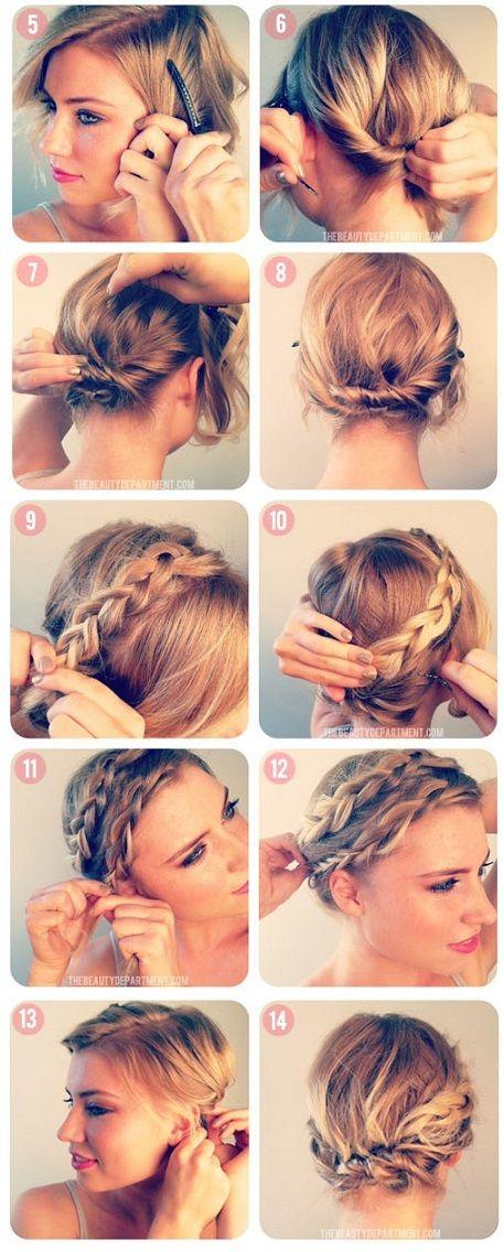Idées de coiffures avec les cheveux courts, faire une natte avec les cheveux courts, se coiffer facile et rapide à faire soi même. Coiffure mode et simple.