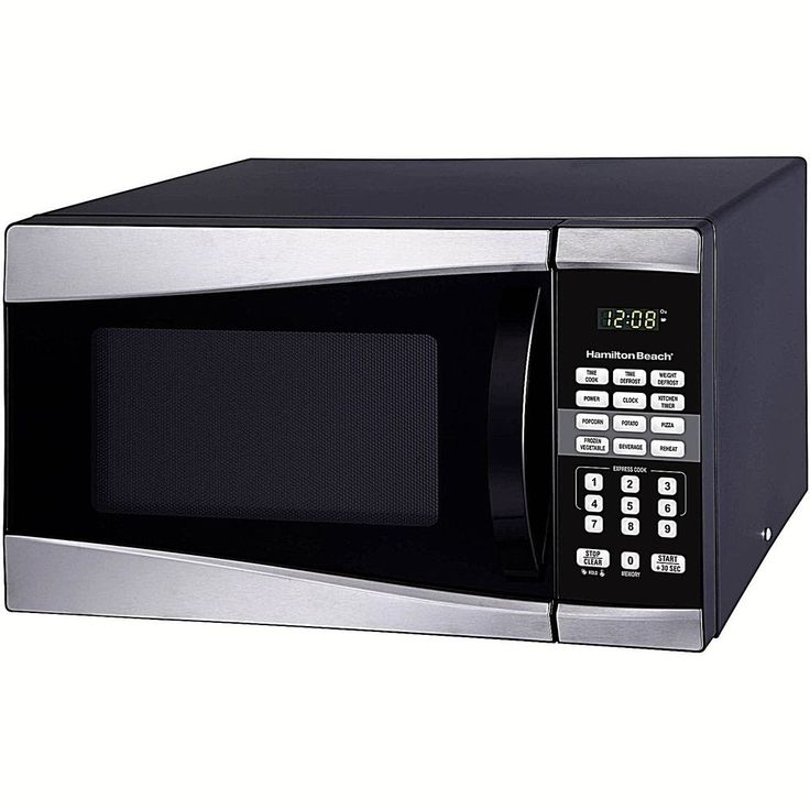 Easy Clean Microwave Oven Stainless Steel 0.9 cu Ft 900W &Digital Clock New      #DealsToaday