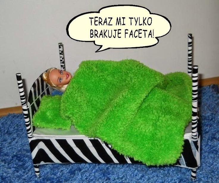 Meble dla Barbie - zrób je sam: sexy łóżko