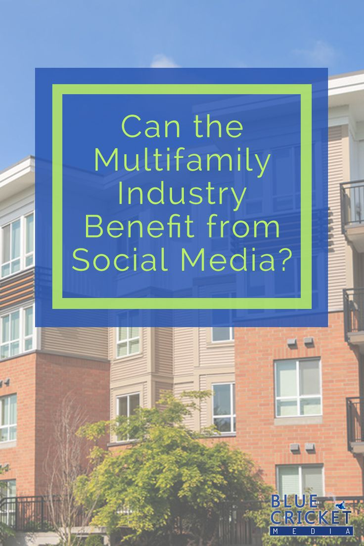 Can the multifamily industry benefit from social media? Find out how you can leverage social media to increase resident retention, save money on marketing and even generate new leads. Start using social media to  accomplish business and marketing goals for your community. Learn more about http://www.bluecricketmedia.com/2015/09/multifamily-social-media/