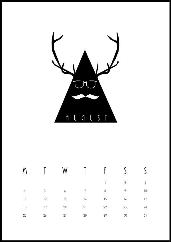 August 2014 calendar! Design by me!
