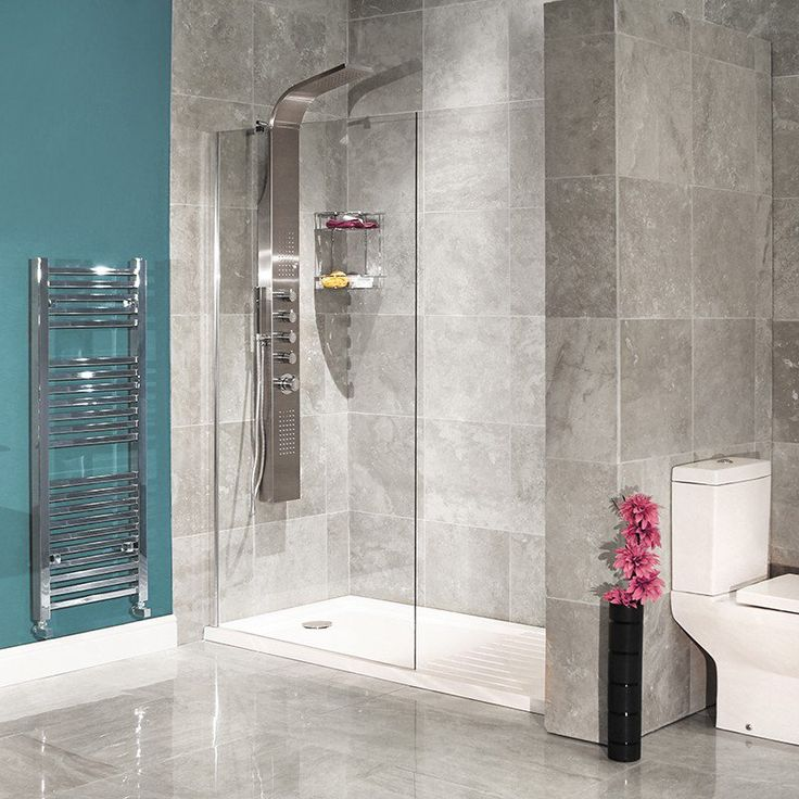 1850mm x 1200mm minimalist shower Panel for walk-in style showers. Now features 8mm thick glass.  Does not include tray.