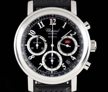 Chopard Mille Miglia Chronograph Gents Stainless Steel Black Dial 168331